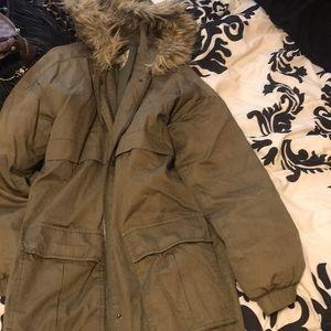 Forever 21 Military Fur jacket